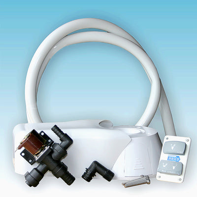 QUIET FLUSH ELECTRIC TOILET Conversion Kit Fresh water flush model, 12 volt dc - null (37055-0092)