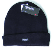 Knitted Thinsulate Lined Ski Type Hat - Black