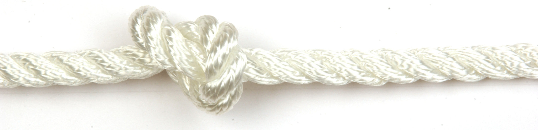 White 3 Strand Polyester Rope - 100m Reel