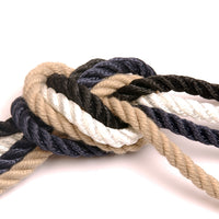 Navy 3 Strand Polyester Rope - 100m Reel