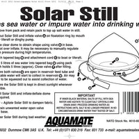 Aquamate Solar Still