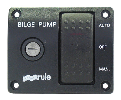 Rule 3-Way Lit Rocker Switch - 3-way lighted switch 12 volt DC Rule - 43