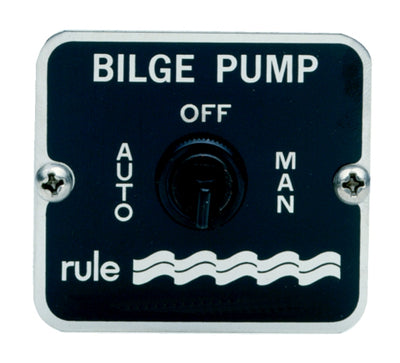 Rule 3-Way Panel Switch - Switch 12/24 volt DC. Rule - 45