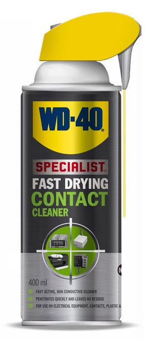 WD40 Fast Drying Contact Cleaner - 400 ml – with Smart Straw – for electrics