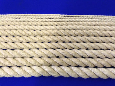 Synthetic Hemp Style 3 strand Rope 4mm - 24mm