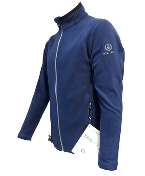 Henri Lloyd Azure Blue Full Zipped Fleece Jacket