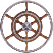 Stazo Type 03 Wooden Steering Wheel with Stainless Steel Rim (500mm)  610037
