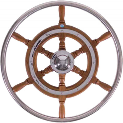 Stazo Type 03 Wooden Steering Wheel with Stainless Steel Rim (600mm)  610039
