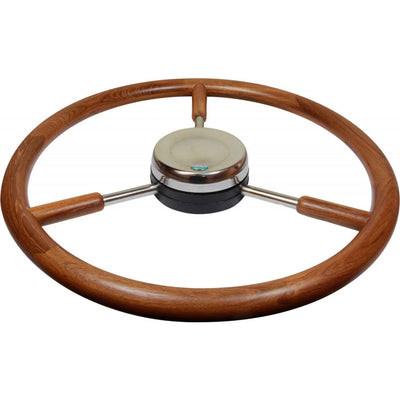 Stazo Type 20 Wooden Rimmed Marine Steering Wheel (400mm)  610043