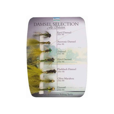 Shakespeare Sigma Fly Selection - Damsel Nymphs - 7 Assorted Styles