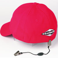 Cap Retainer - cord with clips to hold your cap to your collar