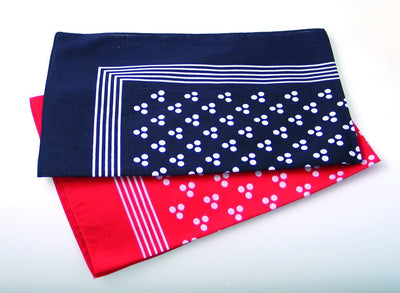 Traditional Cotton Square, Navy - Three Spot