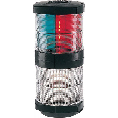 Hella 2984 Tricolour Navigation Light with Anchor (Black / 12V)  721110