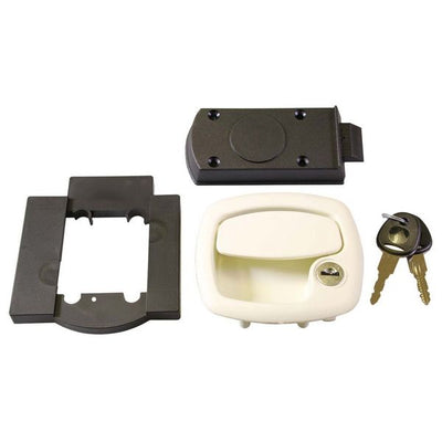 Locker / Garage Lock White - 1200KIT28N