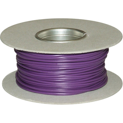 ASAP Electrical 1 Core 1mm² Purple Thin Wall Cable (50m)  734115-J