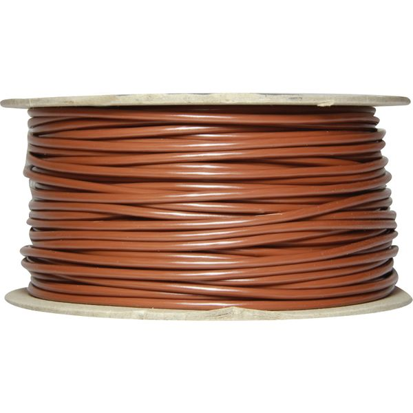 ASAP Electrical 1 Core 2mm² Brown Thin Wall Cable (50m)  734135-C