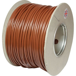 ASAP Electrical 1 Core 4.5mm² Brown Thin Wall Cable (100m)  734169-C