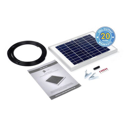 Solar Technology 10W RIGID Solar Panel Kit BASIC