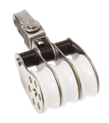 Stainless Block Triple Swivel 30mm
