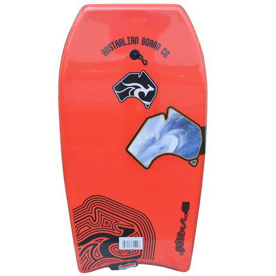 45inch Adults Pulse Series EPS Bodyboard by Australian Board Company  red