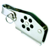 Wichard 24mm Single Block with V Cleat Becket & Shackle