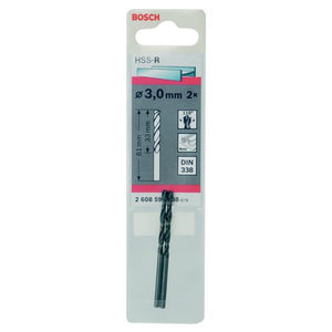 Bosch HSS Twist Point Teq Drill Bit 3mm Pk2 - 365698