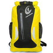 Waterproof Dry Bag 25 litre Backpack Rucksack Style – Reflective Zip Pocket  yellow