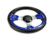 """Deluxe Sport"" Sports Boat Steering Wheel in BLACK and BLUE"