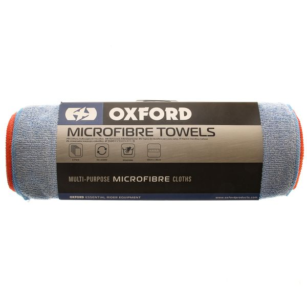 Oxford Mint Multi Purpose Microfibre Towels Pack of 6 - OX253