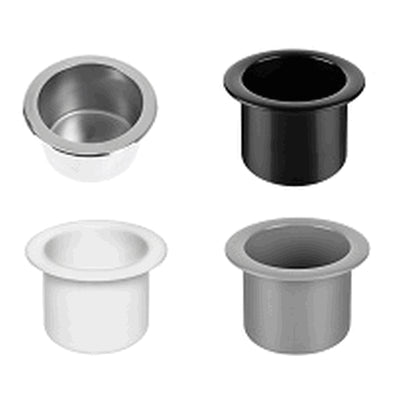 Grey Mug Holder With Drain Hole ABS, OD 95mm x ID 67mm x Depth 65mm  40202  AQM40202