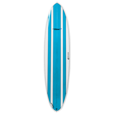 7ft 2inch Circle One Southern Swell Series Round Squash Tail Funboard Surfboard – Gloss Finish  blue