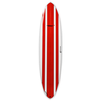 7ft 2inch Circle One Southern Swell Series Round Squash Tail Funboard Surfboard – Gloss Finish  red