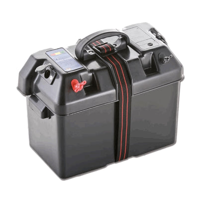 100A Battery Box 20x35x24cm with strap Switch, Insltd Outlets & Cigar Socket  N0111537  TRN0111537