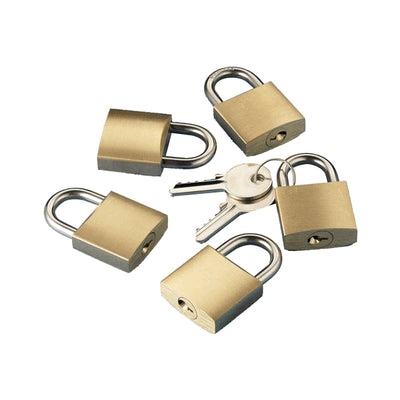 Key Alike Padlock 30mm Pack of 5 Locks With 2 Keys  N0218005  TRN0218005