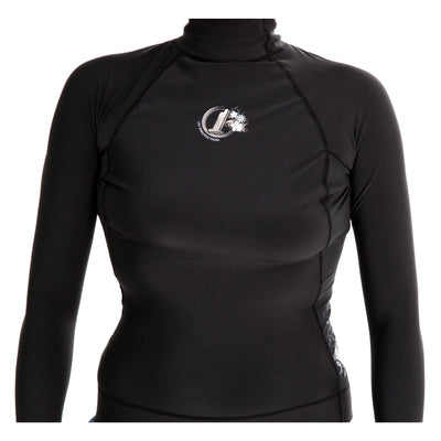 Womens Polypro Thermal Long Sleeve Rash Vest 14