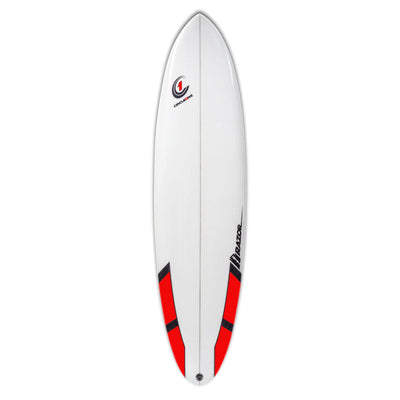 7ft Razor Surfboard with Round Tail – Matt Finish  red
