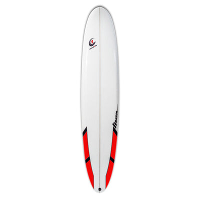 9ft Razor Longboard Surfboard with Round Tail – Matt Finish  red