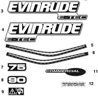 Evinrude Johnson OMC Engine Part DECAL  0215542 215542
