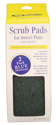 Blue - Medium Scrub Pads 2pk