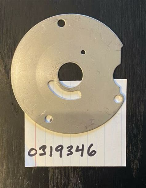 Evinrude Johnson OMC Engine Part Plate  0319346 319346