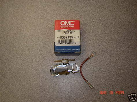 Evinrude Johnson OMC Engine Part Point Set & 0382135 382135