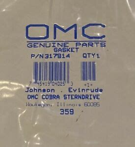 Evinrude Johnson OMC Engine Part Gasket  0317914 317914