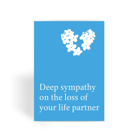 Deep sympathy on the loss of your life partner Card