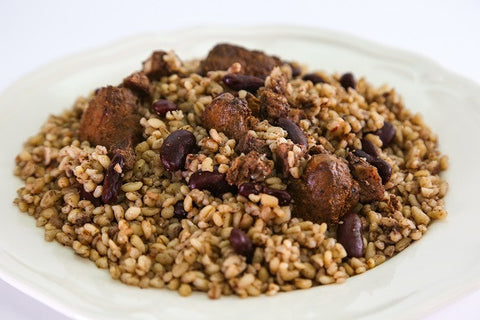 Bulgur with Chicken & Red Beans