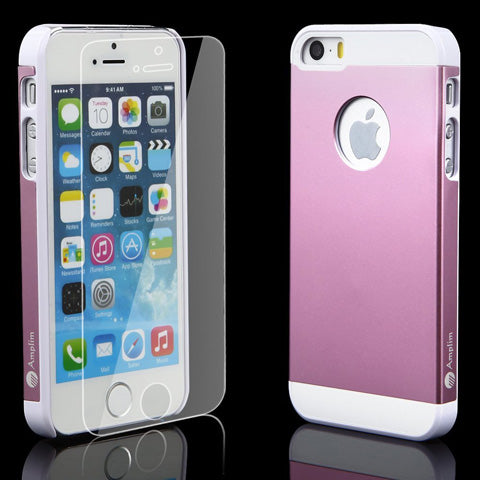 iPhone SE/5S Pink Case + Screen Protector