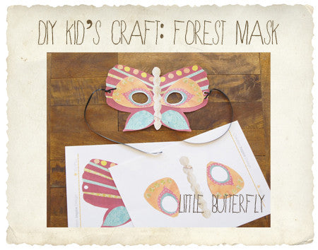 DIY craft fun: butterfly mask!
