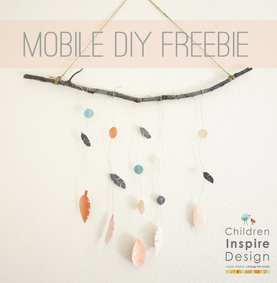 DIY Freebie- Boho Mobile