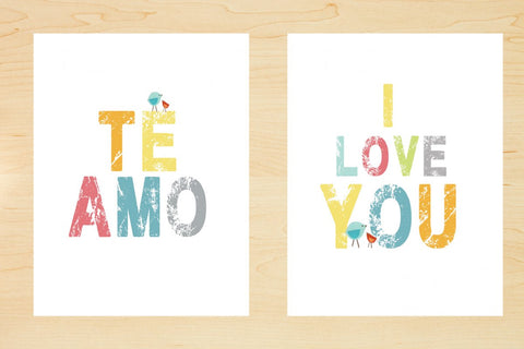 Te amo I love you print