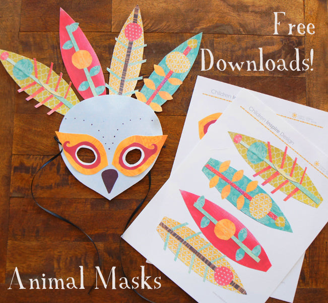 DIY craft fun: peacock mask!
