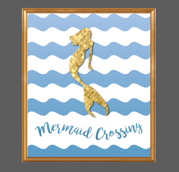 Print or Canvas, Mermaid Crossing, Fantasy, Magic